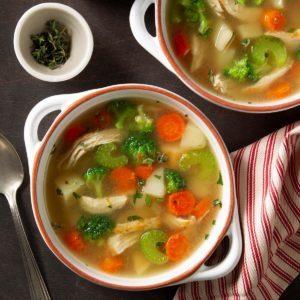 Pressure Cooker Loaded Chicken Veggie Soup