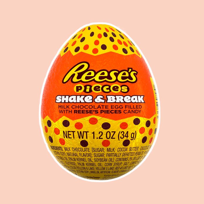 best easter candy Reese's Pieces Shake & Break Milk Chocolate Easter Egg