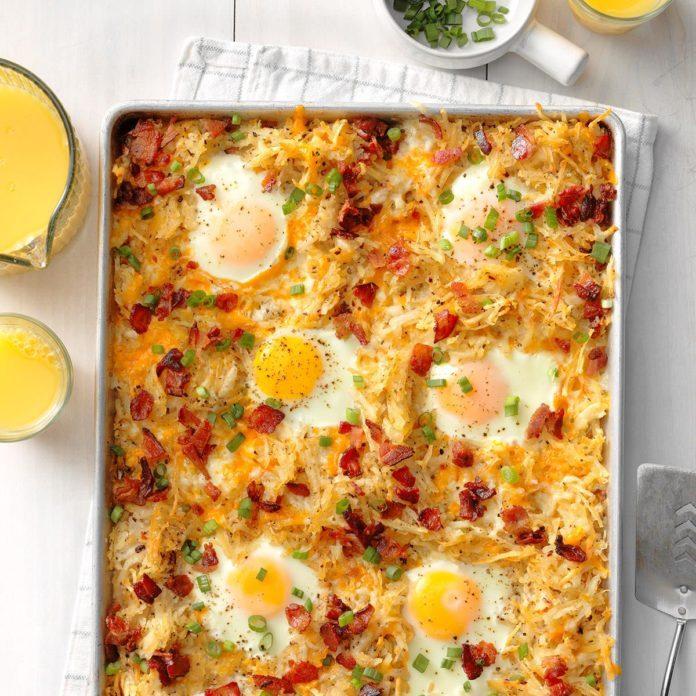 Sheet-Pan Eggs and Bacon Breakfast