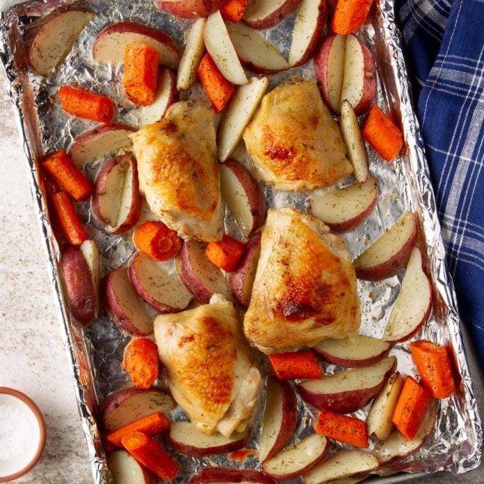 Caesar Sheet-Pan Chicken