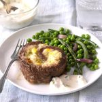 Air-Fryer Stuffed Meat Loaf Slices