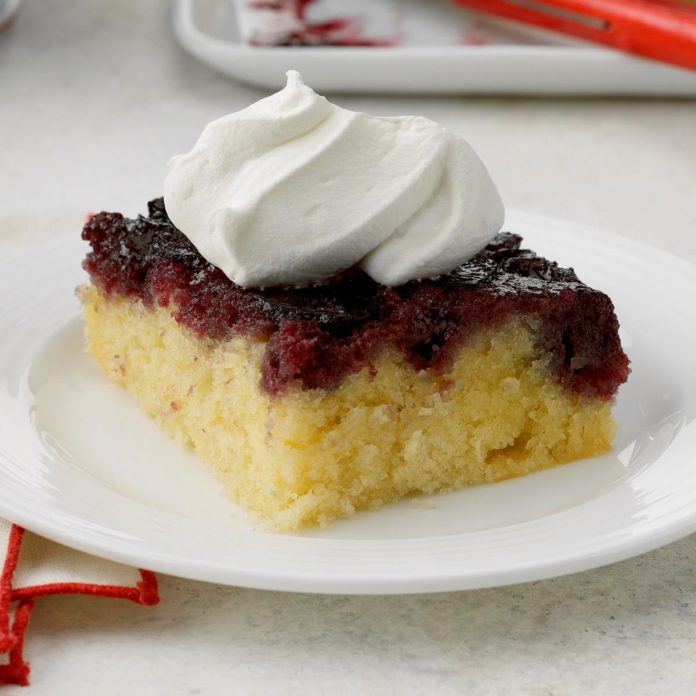 Sweet Cherry Upside-Down Cake
