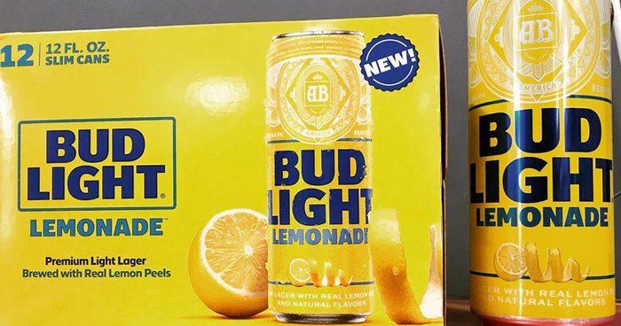 bud light lemonade can and box