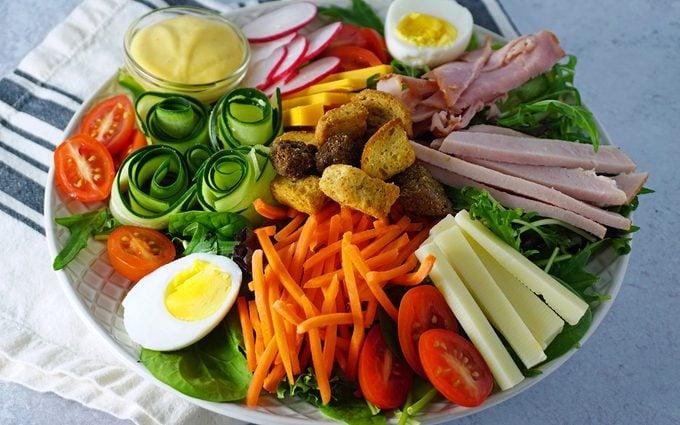 chef salad at an angle