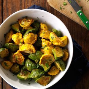 Garlic-Herb Fried Patty Pan Squash