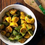 Garlic-Herb Fried Patty Pan Squash