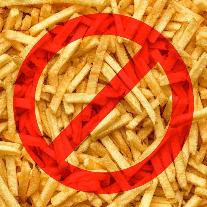 Fries with the no symbol over them