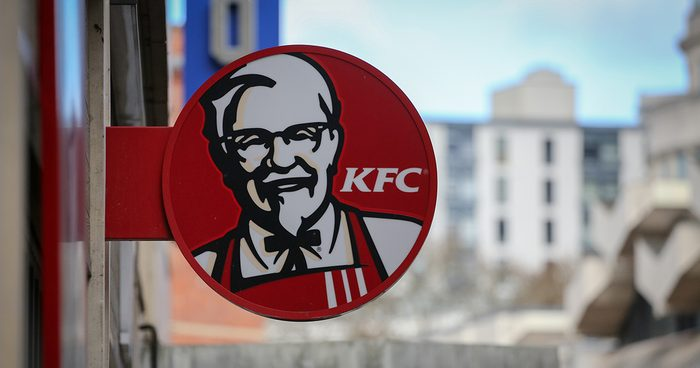 BRISTOL, ENGLAND - FEBRUARY 20: The KFC logo is pictured outside a branch of KFC that is closed due to problems with the delivery of chicken on February 20, 2018 in Bristol, England. KFC has been forced to close hundred of its outlets as a shortage of chicken, due to a failure at the company's new delivery firm DHL, has disrupted the fast-food giant's UK operation and is thought to be costing the fast food chain £1million a day. (Photo by Matt Cardy/Getty Images)