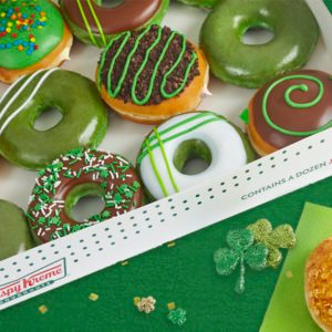 Krispy Kreme Is Selling Green Doughnuts for St. Patrick's Day and We're Feeling VERY Lucky