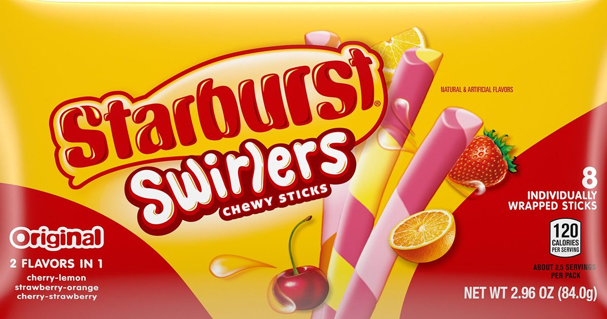 Starburst Swirlers Combine Your Favorite Fruit Flavors—With a Twist