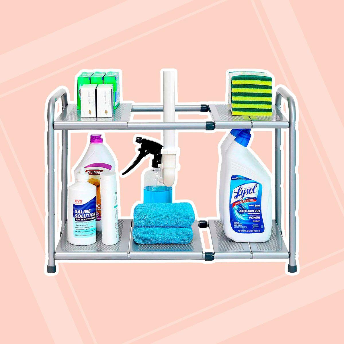 Two-Tier Expandable Shelf Rack