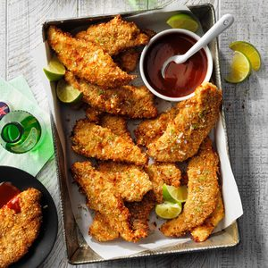 Air-Fryer Coconut-Crusted Turkey Fingers
