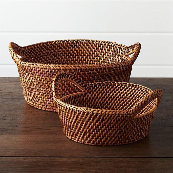 Artesia Large Honey Rattan Bread Basket
