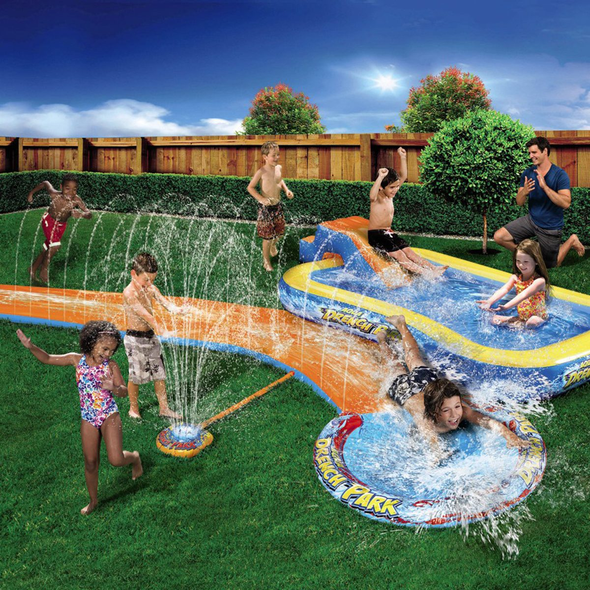 Banzai 3 in 1 Splash Park In Use