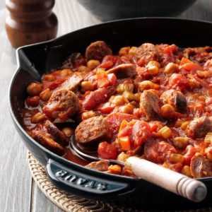 Sausage & Chickpea Skillet
