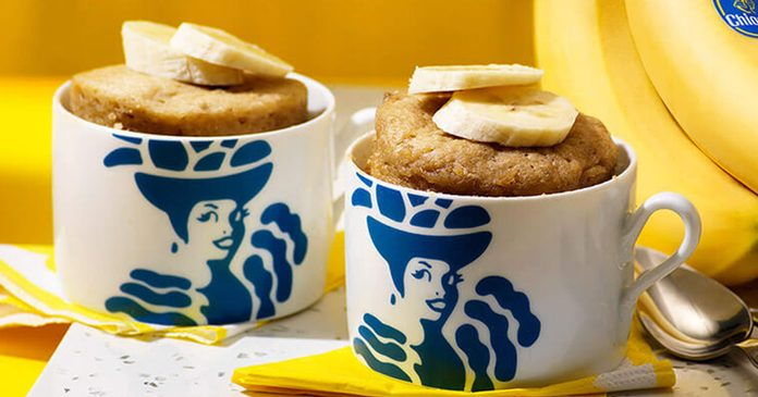 hiquita banana bread mug cake