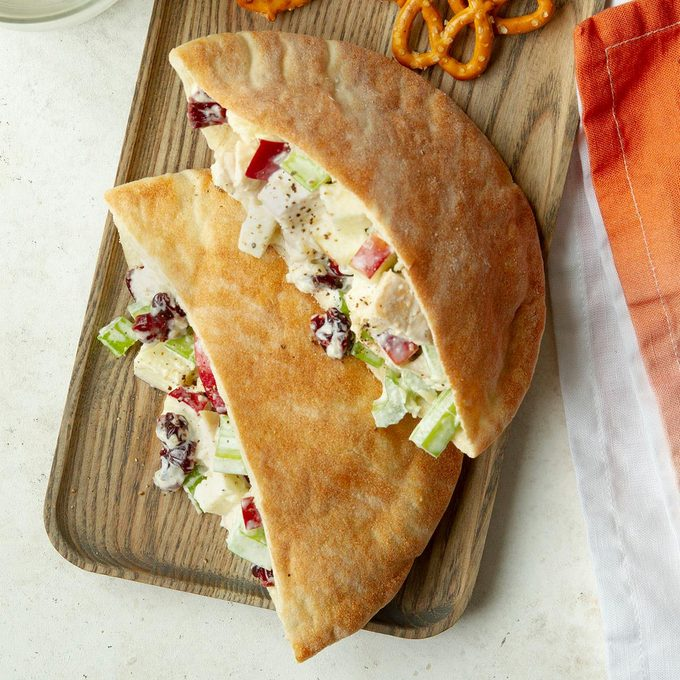 Middle School Age: Fruity Chicken Salad Pitas