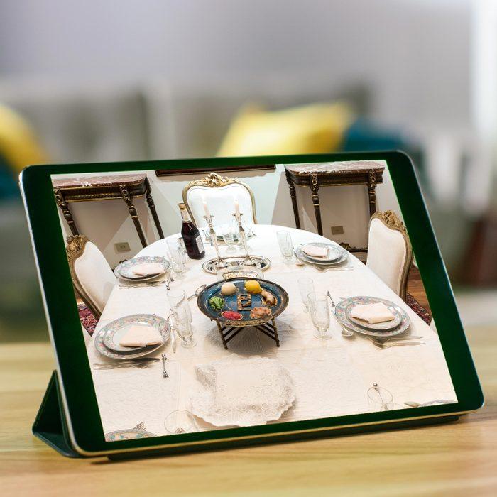 Table setting on an ipad