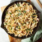 Gorgonzola Shrimp Pasta