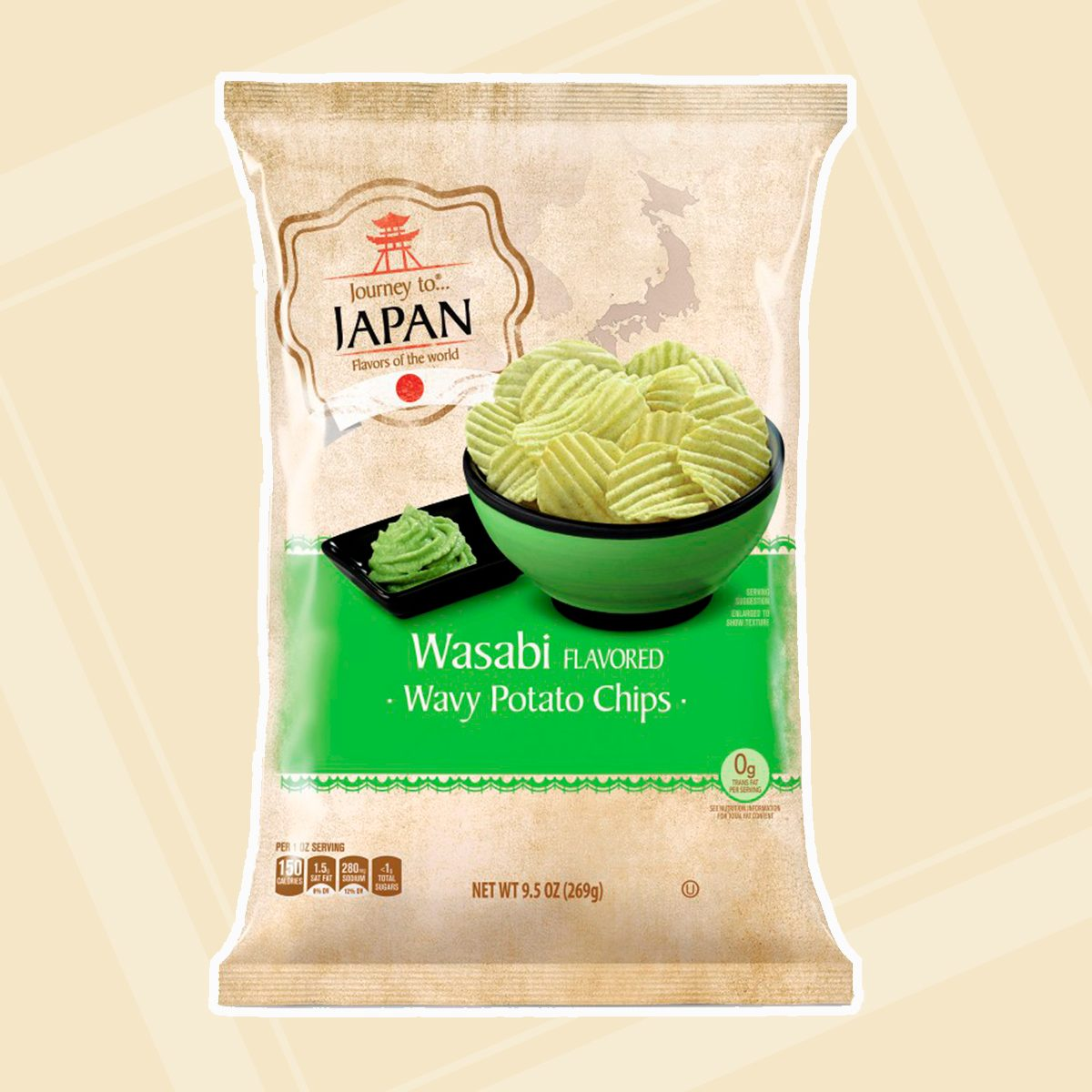 Journey To Wavy Potato Chips Wasabi