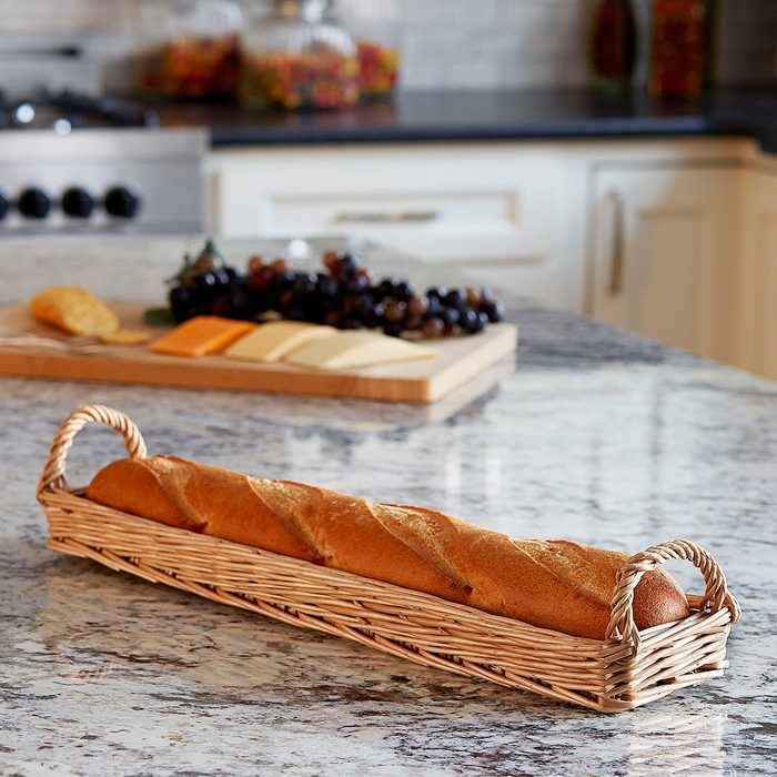Long Wicker Bread Basket