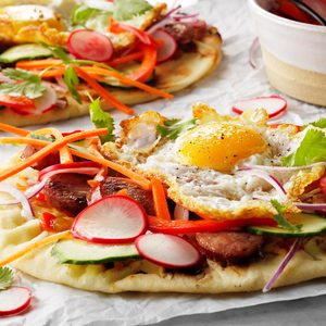 Open-Faced Breakfast Banh Mi