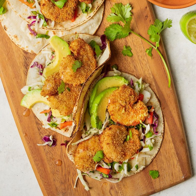 Popcorn Shrimp Tacos With Cabbage Slaw Exps Tohas20 245361 F04 07 1b Home 2