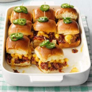 Mac & Cheese Pork Sliders