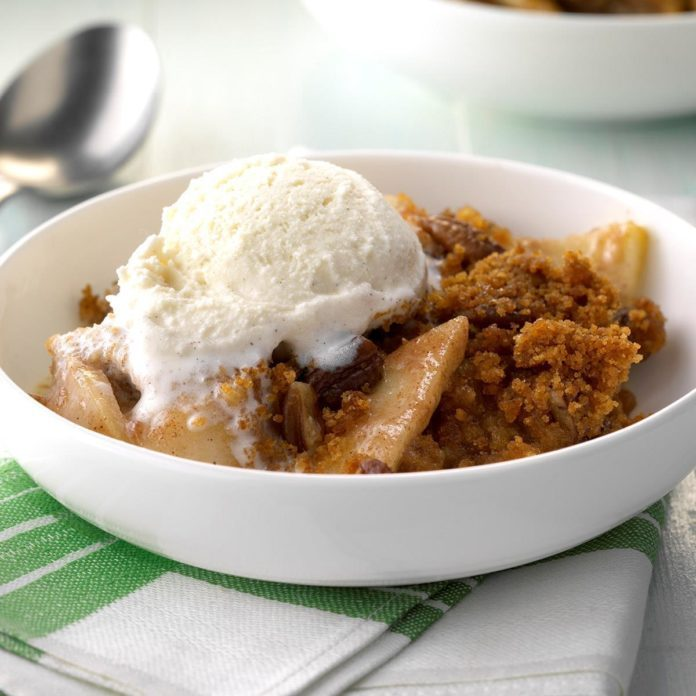 Apple Pudding Crisp Dessert