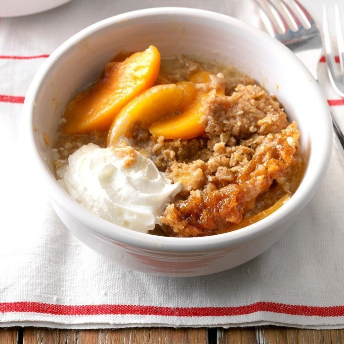 Tropical Peach Crumble