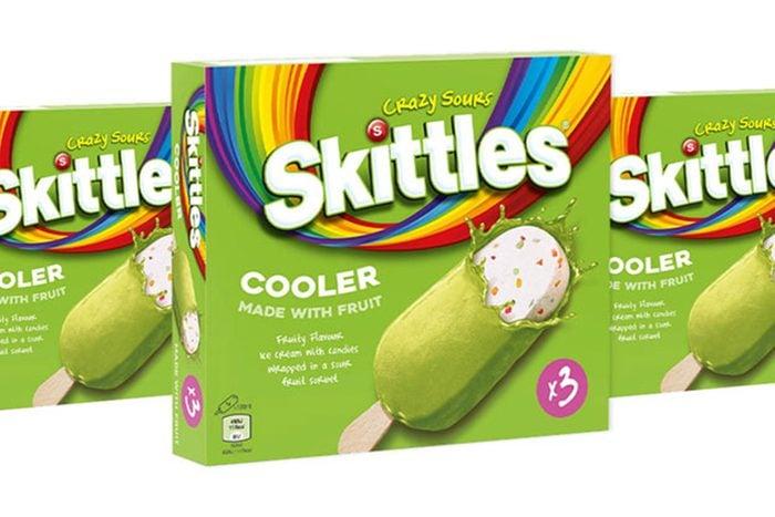 Sour Skittles-Infused Ice Cream Bars
