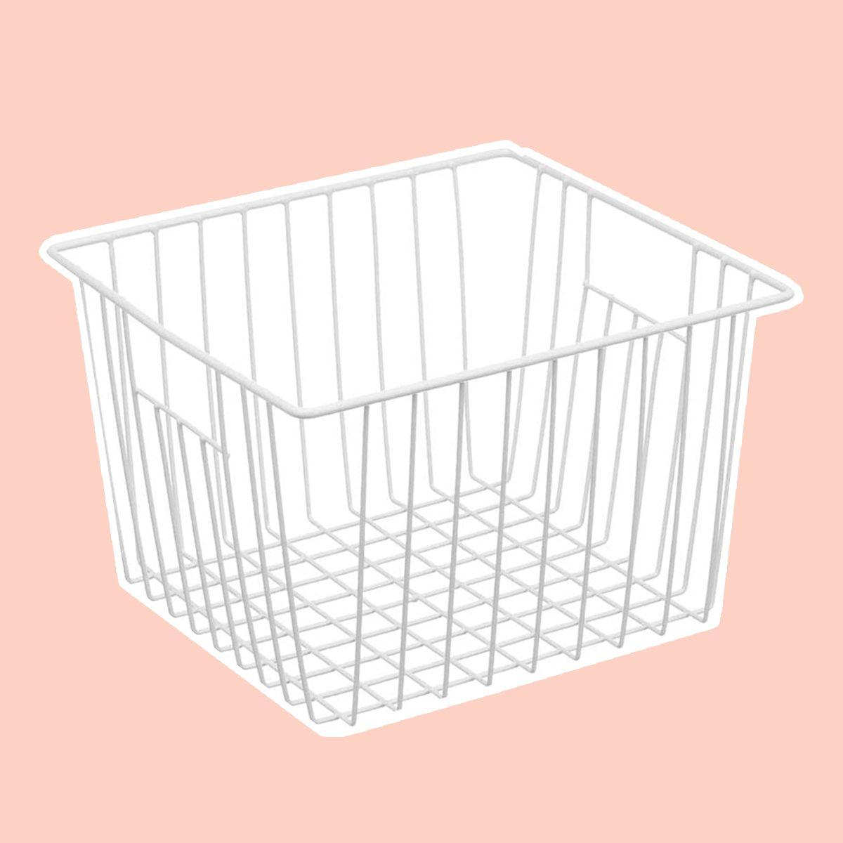 iPEGTOP Deep Refrigerator Freezer Baskets, Large Household Wire Storage Basket Bins Organizer with Handles for Kitchen, Pantry, Freezer, Cabinet, Closets