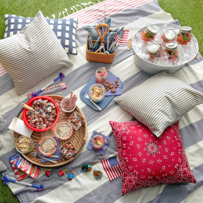 fourth of july party spread