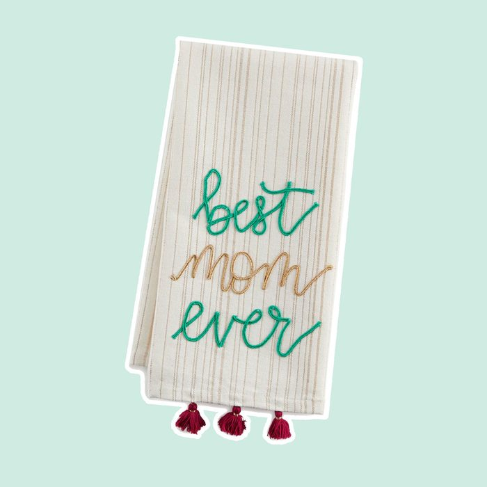 "Paper Source ""Best Mom Ever"" Tea Towel"