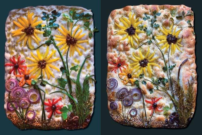 focaccia sunflower