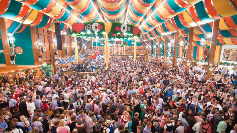 Millions of visitors during weeks of Oktoberfest.