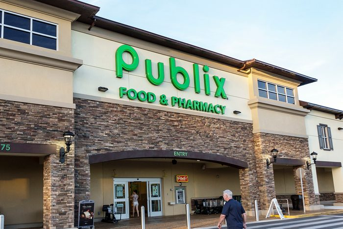 The entrance to Publix, grocery store in Ocala. (Photo by: Jeffrey Greenberg/Universal Images Group via Getty Images)