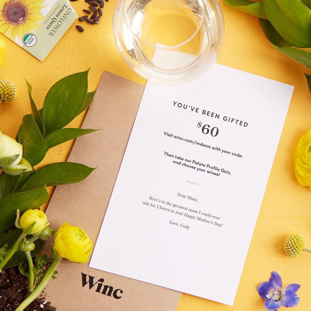 wine gift card