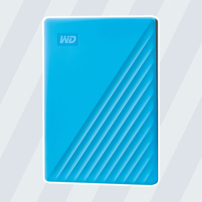 WD - My Passport 2TB External USB 3.0 Portable Hard Drive with Hardware Encryption (Latest Model) - Blue