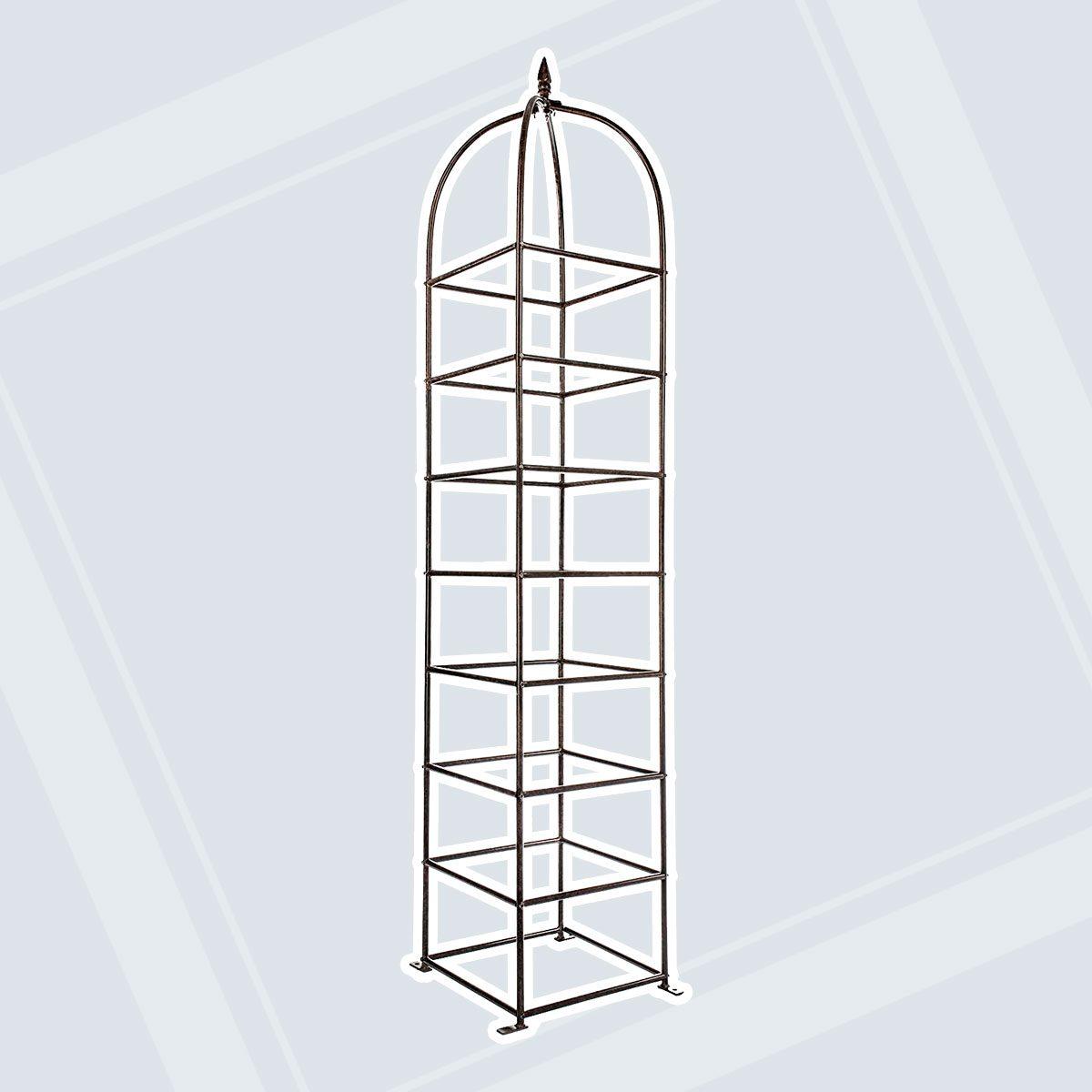 H Potter Trellis Large Obelisk for Climbing Garden Plants Weather Resistant Iron and Metal Vertical Yard Art