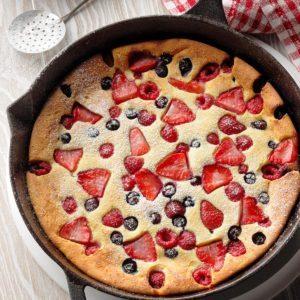 Berry Ricotta Puff Pancake