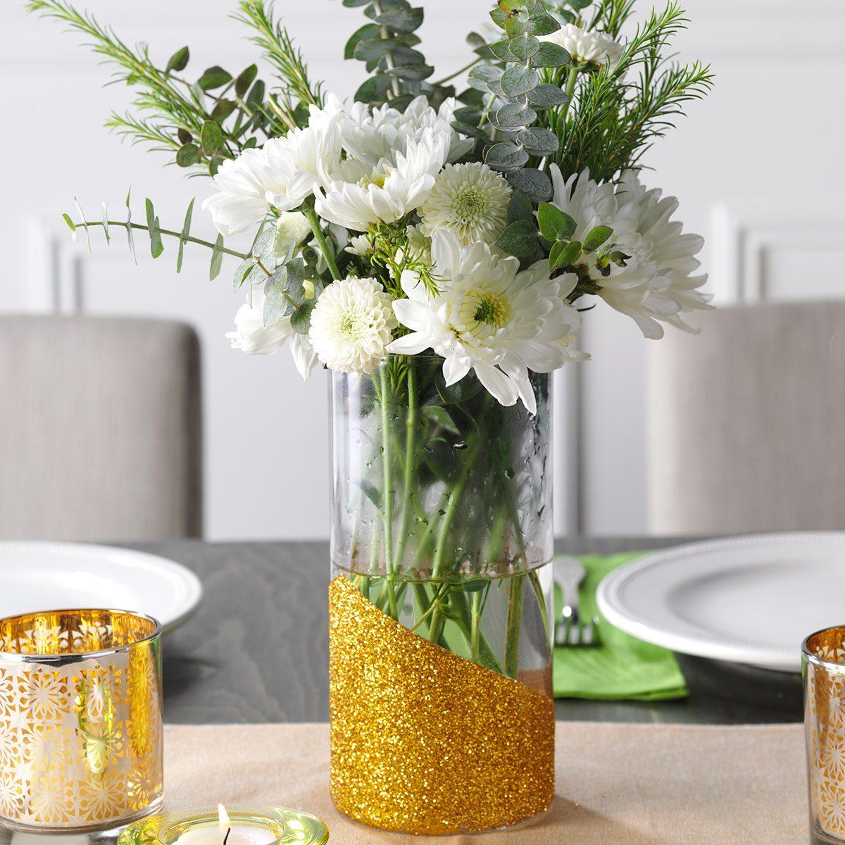 Glitter vase