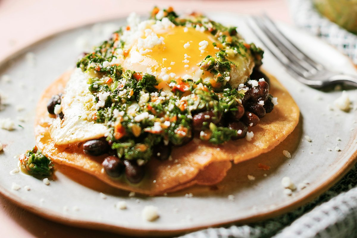 """These """"Chimichurri Breakfast Tostadas"""" Are Exactly What Your Brunch Game Needs"""