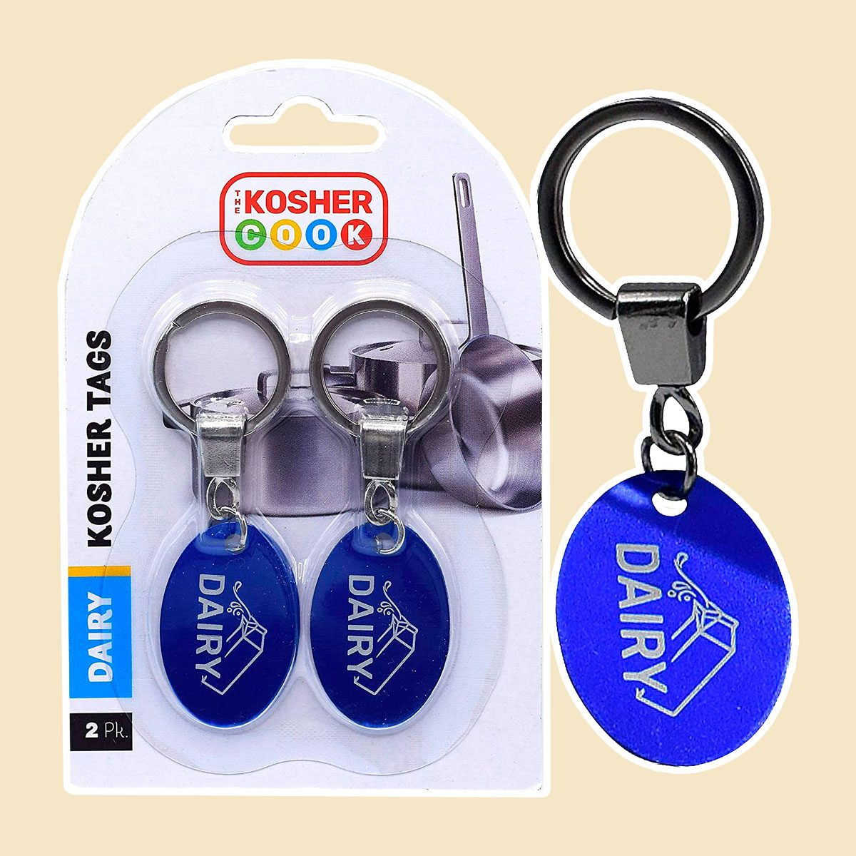 The Kosher Cook Dairy Blue Key Rings