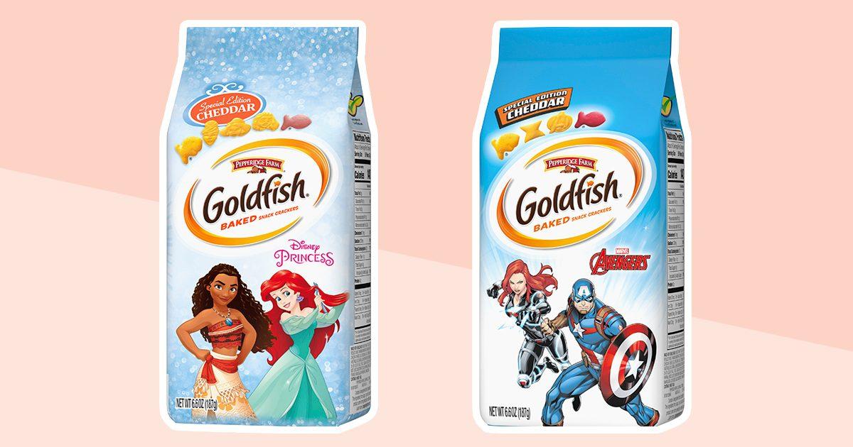 Goldfish new Disney princess and Marvel Avengers crackers