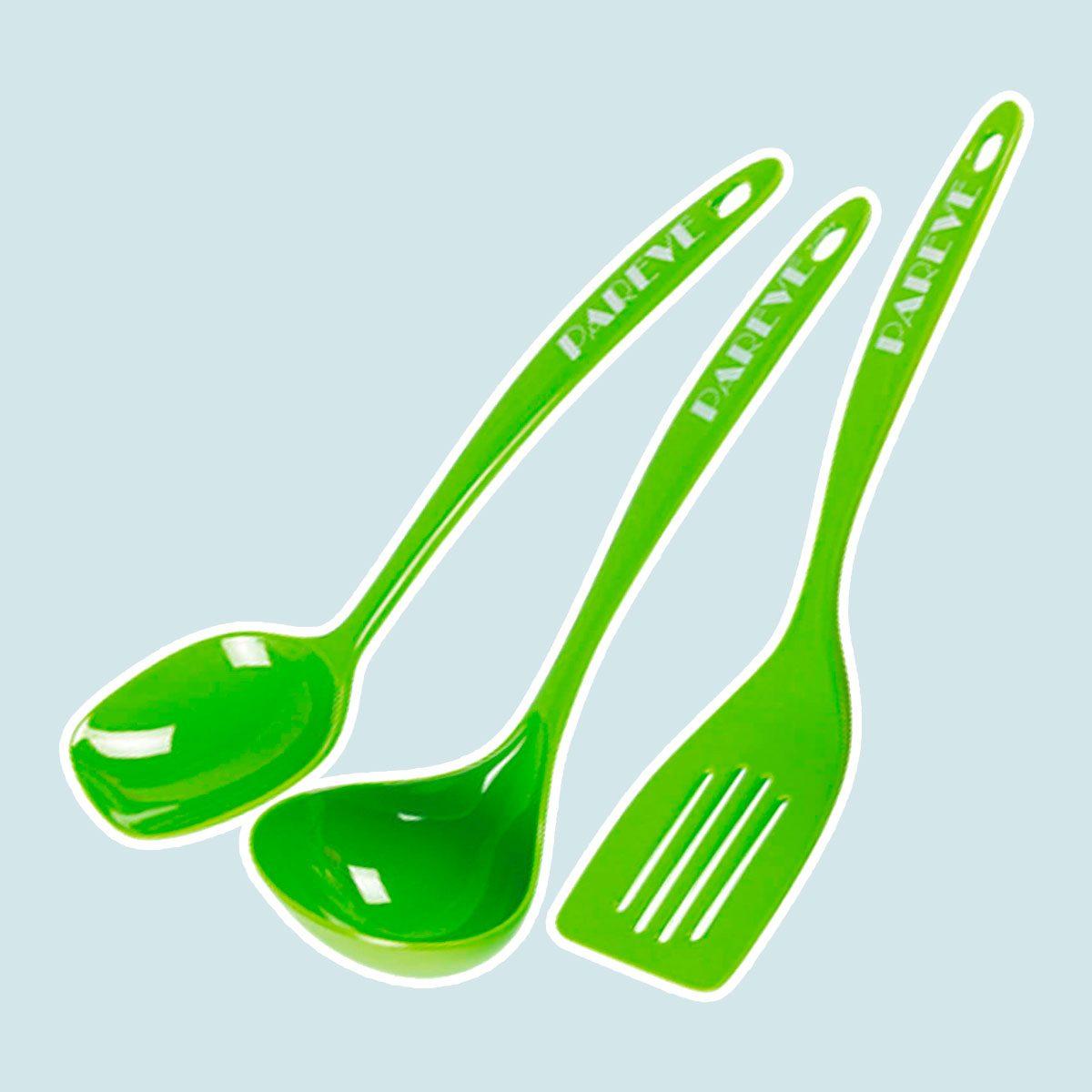 Parve Green Kitchen Utensil Set
