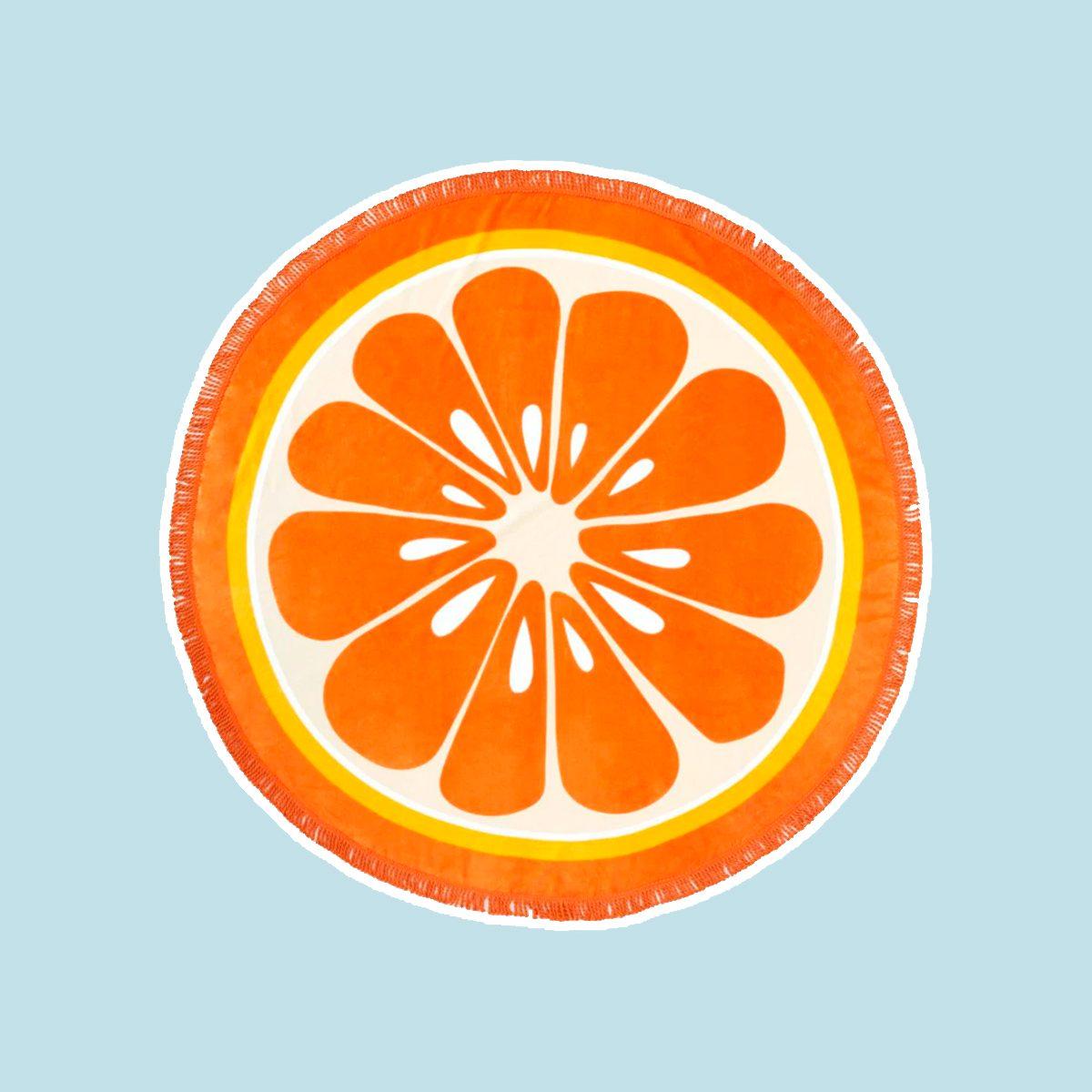 Round Orange Towel