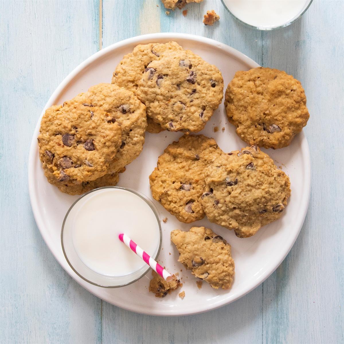 Sourdough Oatmeal Chocolate Chip Cookies