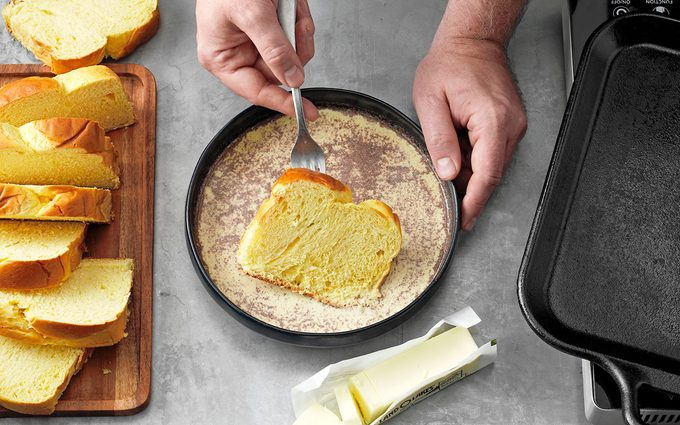 soak the bread how to make french toast