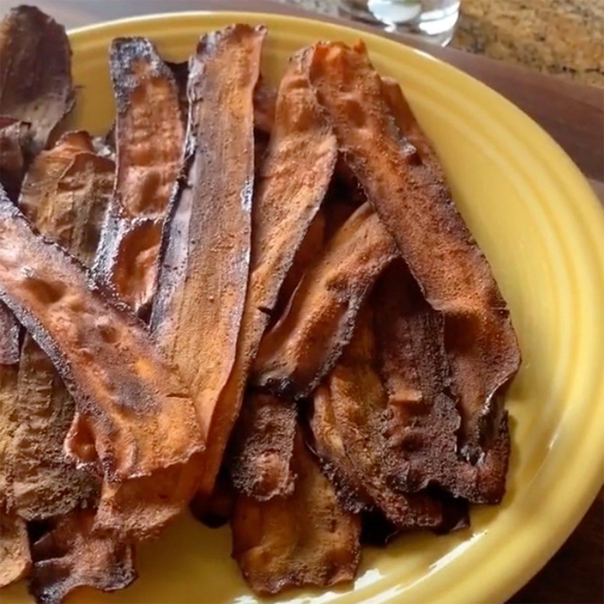 TIk tok vegan carrot bacon